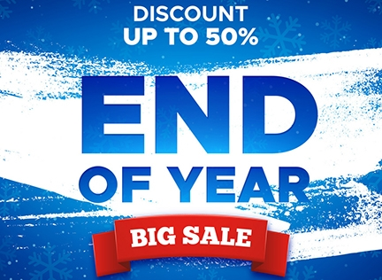 END of YEAR SALES Up to 50% OFF